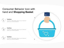 Consumer Behavior Icon With Hand And Shopping Basket