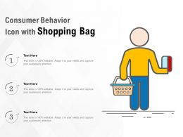 Consumer Behavior Icon With Shopping Bag