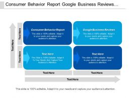 Consumer Behavior Report Google Business Reviews Mission Statement Cpb