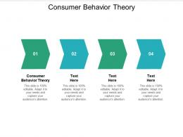 Consumer Behavior Theory Ppt Powerpoint Presentation Infographics Cpb
