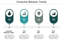 Consumer Behavior Trends Ppt Powerpoint Presentation Ideas Diagrams Cpb