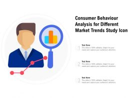 Consumer Behaviour Analysis For Different Market Trends Study Icon