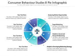 Consumer Behaviour Studies 8 Pie Infographic