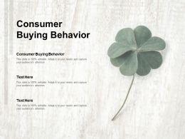 Consumer Buying Behavior Ppt Powerpoint Presentation Slides Layout Ideas Cpb