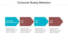 Consumer Buying Behaviour Ppt Powerpoint Presentation Professional Cpb