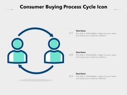 Consumer Buying Process Cycle Icon