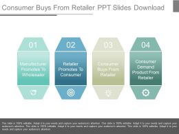 Consumer Buys From Retailer Ppt Slides Download