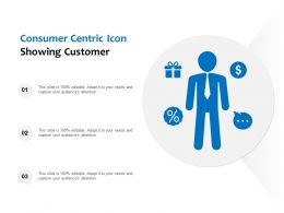 Consumer Centric Icon Showing Customer