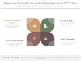 Consumer Competitor Analysis Value Proposition Ppt Slide