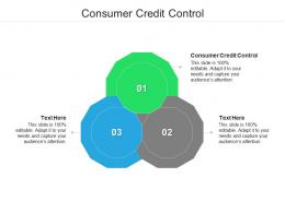 Consumer Credit Control Ppt Powerpoint Presentation Summary Graphics Example Cpb