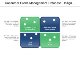 Consumer Credit Management Database Design Development Management Study Cpb