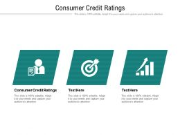 Consumer Credit Ratings Ppt Powerpoint Presentation File Topics Cpb