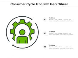 Consumer Cycle Icon With Gear Wheel