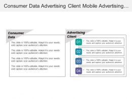 Consumer Data Advertising Client Mobile Advertising Online Search