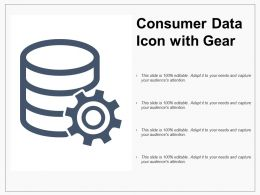 Consumer Data Icon With Gear