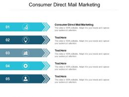 Consumer Direct Mail Marketing Ppt Powerpoint Presentation Inspiration Model Cpb