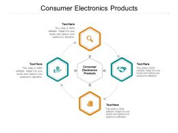 Consumer Electronics Products Ppt Powerpoint Presentation Diagram Templates Cpb
