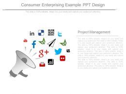 Consumer Enterprising Example Ppt Design