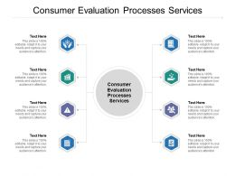 Consumer Evaluation Processes Services Ppt Powerpoint Presentation Professional Grid Cpb