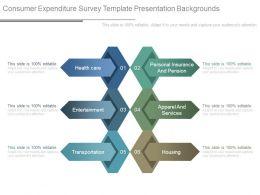 Consumer Expenditure Survey Template Presentation Backgrounds