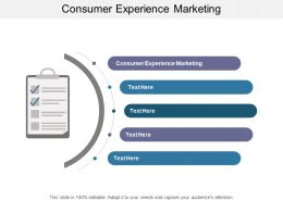 Consumer Experience Marketing Ppt Powerpoint Presentation Professional Smartart Cpb