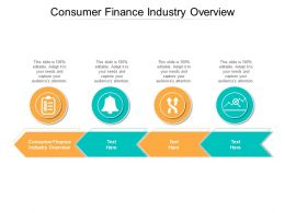 Consumer Finance Industry Overview Ppt Powerpoint Presentation Pictures Information Cpb