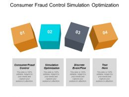 Consumer Fraud Control Simulation Optimization Discrete Event Flow Cpb