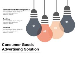 Consumer Goods Advertising Solution Ppt Powerpoint Presentation Gallery Background Image Cpb