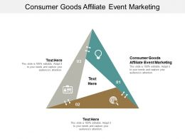Consumer Goods Affiliate Event Marketing Ppt Powerpoint Presentation File Slideshow Cpb