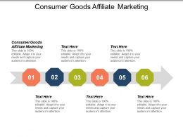 Consumer Goods Affiliate Marketing Ppt Powerpoint Presentation Icon Shapes Cpb