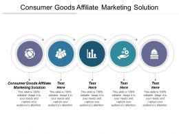 Consumer Goods Affiliate Marketing Solution Ppt Powerpoint Presentation File Styles Cpb