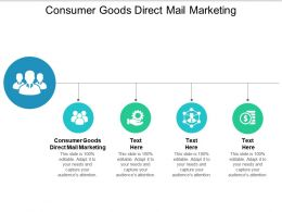 Consumer Goods Direct Mail Marketing Ppt Powerpoint Presentation Infographics Design Cpb