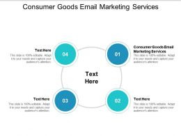 Consumer Goods Email Marketing Services Ppt Powerpoint Presentation Model Graphics Cpb