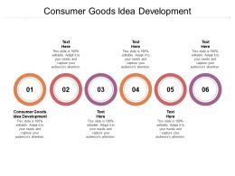 Consumer Goods Idea Development Ppt Powerpoint Presentation Professional Slides Cpb