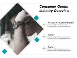 Consumer Goods Industry Overview Ppt Powerpoint Presentation Infographic Template Infographics Cpb