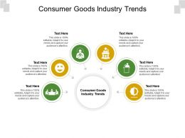 Consumer Goods Industry Trends Ppt Powerpoint Presentation Infographic Template Information Cpb