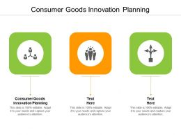 Consumer Goods Innovation Planning Ppt Powerpoint Presentation File Topics Cpb