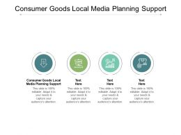 Consumer Goods Local Media Planning Support Ppt Powerpoint Presentation Cpb