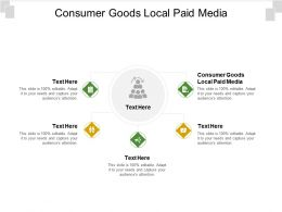 Consumer Goods Local Paid Media Ppt Powerpoint Presentation Inspiration Cpb