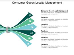 Consumer Goods Loyalty Management Ppt Powerpoint Presentation File Clipart Images Cpb