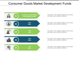 Consumer Goods Market Development Funds Ppt Powerpoint Presentation Slides Graphics Template Cpb