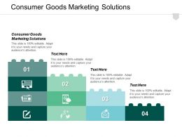 Consumer Goods Marketing Solutions Ppt Powerpoint Presentation Ideas Design Templates Cpb