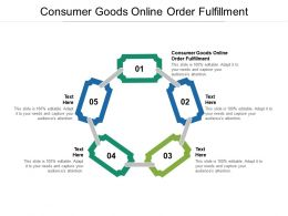 Consumer Goods Online Order Fulfillment Ppt Powerpoint Presentation Portfolio Brochure Cpb