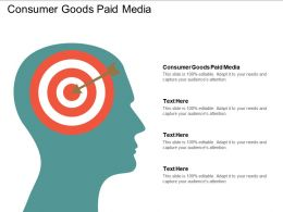 Consumer Goods Paid Media Ppt Powerpoint Presentation Gallery Template Cpb