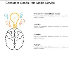 Consumer Goods Paid Media Service Ppt Powerpoint Presentation Gallery Graphics Design Cpb
