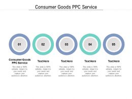 Consumer Goods PPC Service Ppt Powerpoint Presentation File Picture Cpb