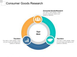 Consumer Goods Research Ppt Powerpoint Presentation Gallery Icons Cpb
