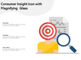 Consumer Insight Icon With Magnifying Glass