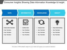 Consumer Insights Showing Data Information Knowledge And Insight