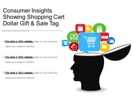Consumer Insights Showing Shopping Cart Dollar Gift And Sale Tag